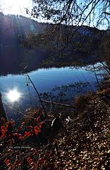 Die Sonne ist ins Wasser gefallen