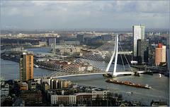 Erasmus Bridge 'the Swan', Rotterdam... (+PiP)