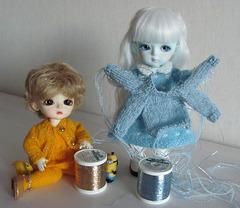 Glittery threads
