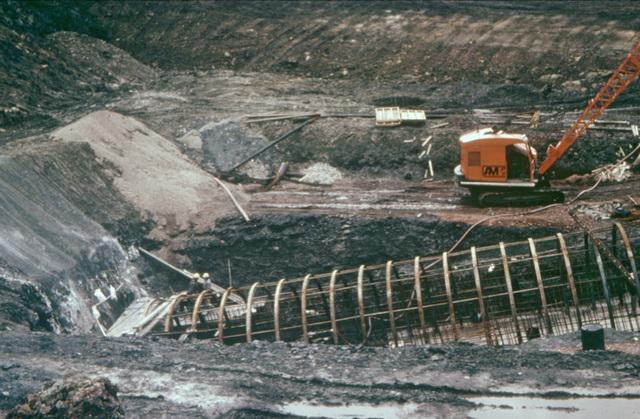 Treeton Surface Drift construction 16 June 1977