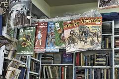 Second-Hand Book Stall – Carmel Market, Tel Aviv, Israel