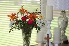 A Floral Arrangement fresh from my garden ~~ :)