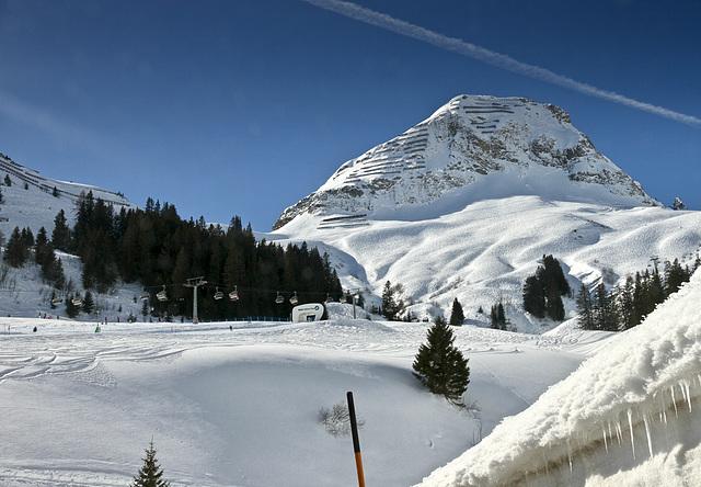 Winter auf dem Hochtannbergpass
