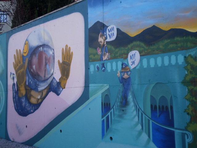 Mural painting.