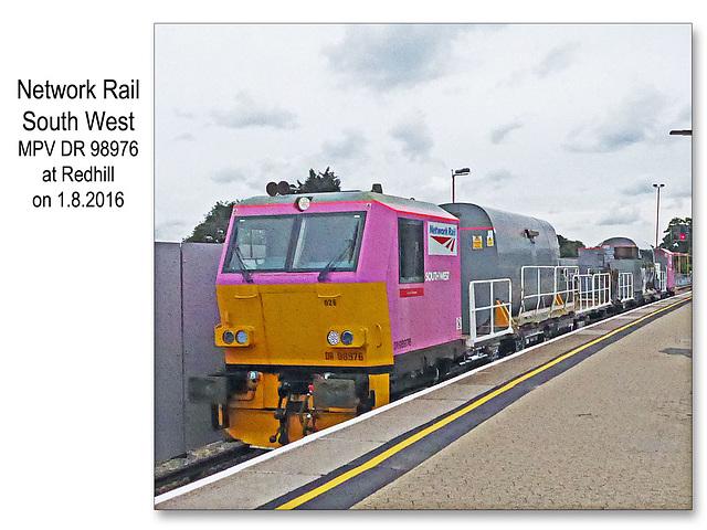 Network Rail MPV Redhill 1 8 2016