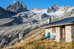 "Evening at the ""Plauen Hut"" (2.364m)"