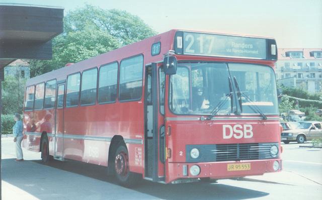 DSB 2 (JR 95 553) at Ebeltoft - 22 May 1988 (Ref: 64-36)
