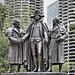 George Washington and Haym Solomon – Heald Square East, Upper Wacker Drive, Chicago, Illinois, United States