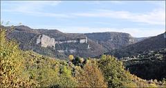 Lods (25) 22 octobre 2013. Panorama sur les Gorges de Noailles. (Vallée de la Loue).