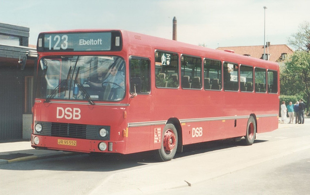 DSB 1 (JR 95 552) at Ebeltoft - 22 May 1988 (Ref: 64-30)