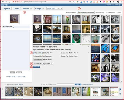 Organize - Upload