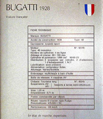 Martigny Museo automobile Bugatti 40 1928