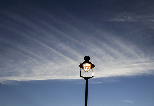 Lamp and cloud feather
