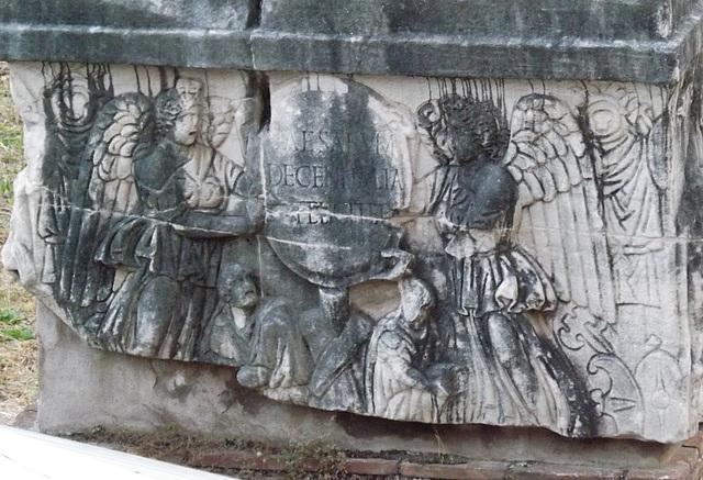 Detail of the Decennalia Base in the Forum Romanum, June 2013