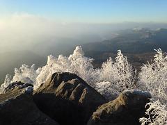 Nebel auf der Kipphornaussicht , Silvester 2016