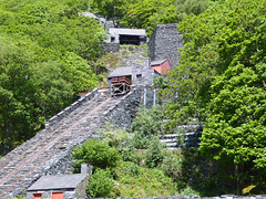 Slate carrying incline, National Slate Museum, Llanberis, North Wales.