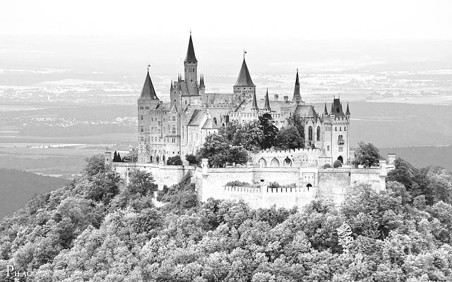 Burg Hohenzollern overexposed