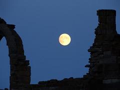Whitby full moon