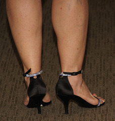 mature feet at party