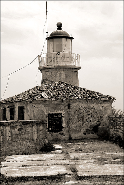 Old fort lighthouse, Corfu