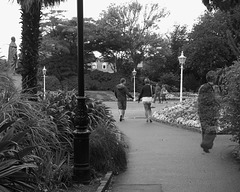 People strolling in the Howard Davis Gardens
