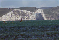 Dorset chalk cliffs