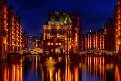 Hamburg. Speicherstadt. Wasserschloß. 201604