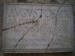 Sign on the House of Augustus' priests.