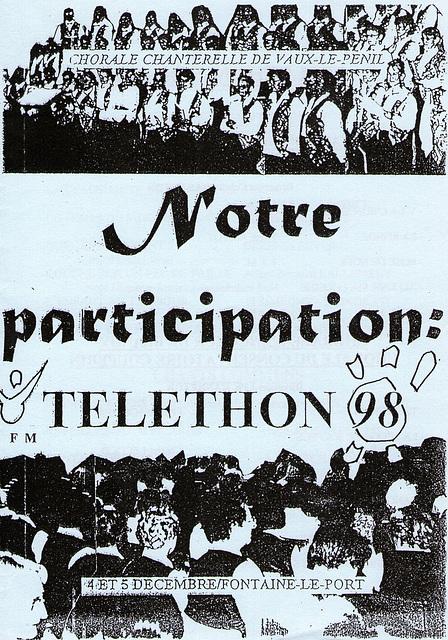 Téléthon à Fontaine-le-Port le 05/12/1998
