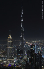 View on Burj Khalifa at night