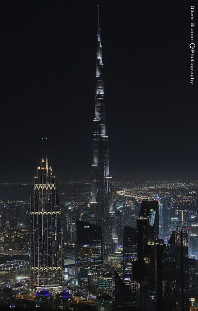 View on Burj Khalifa at night
