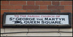 St George the Martyr street sign