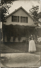 Aunt Jennie In Front of Her House