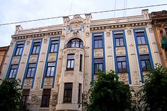 LV - Riga - Art Noveau building at Alberta Iela