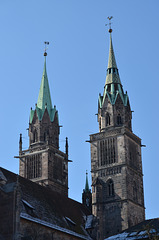 Nürnberg, St. Lorenz Cathedral Towers