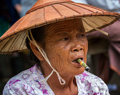 Marktfrau in Myanmar
