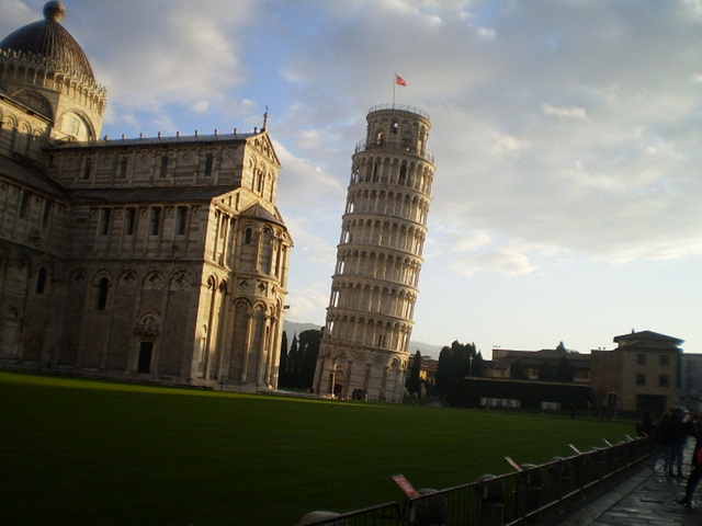 Pisa Cathedral and its leaning belfry.