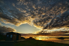 Sunset on campsite
