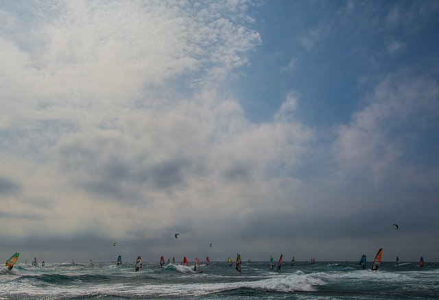 Windsurfing sur Carro.