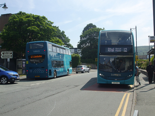 DSCF9756 Arriva Cymru CX14 BXJ and CX12 BXG