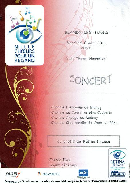 Concert Mille Choeurs à Blandy-les-Tours le 08/04/2011