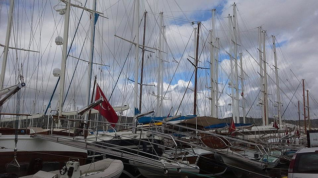 The yachts are getting ready for the summer