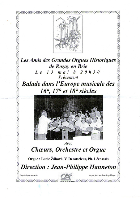 Concert à Rozay-en-Brie le 13/05/2011