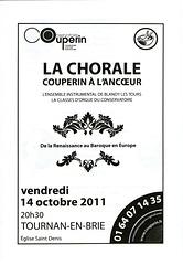 Concert à Tournan-en-Brie le 14/10/2011