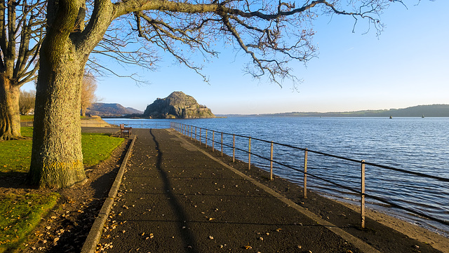 Dumbarton Rock and Castle at the Confluence of the River Leven and the River Clyde