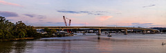 The new bridge at sunset