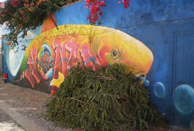 Fish mural.