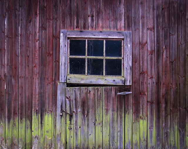 wall of a barn