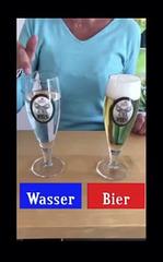 Vergleich Wasser – Bier