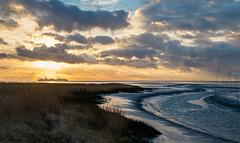 Weser sunset